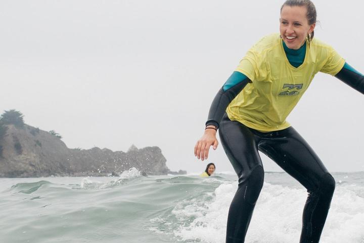 Pet Friendly Beginner Surf Lesson in San Francisco