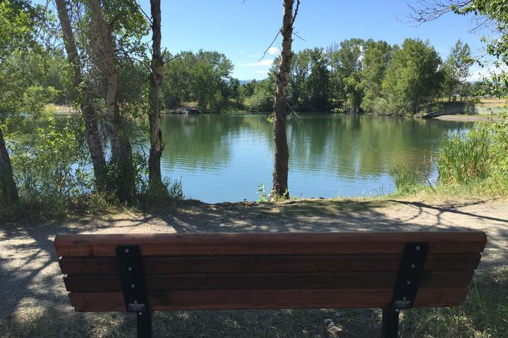 Pet Friendly Canine Beach at Bozeman Pond