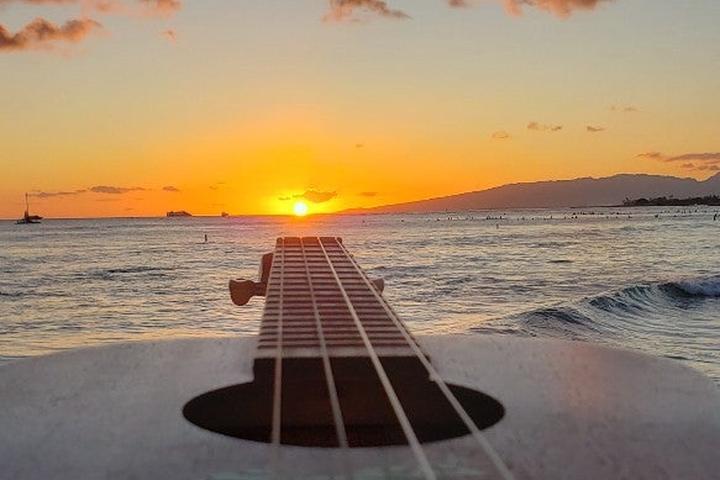 Pet Friendly Sunset Ukulele Lessons on Waikiki Beach