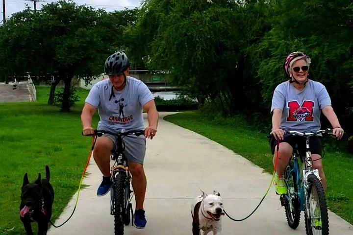 Pet Friendly Bike Ride at Secret Lake Park with Dog