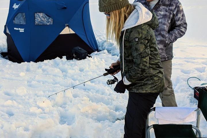Pet Friendly Adventure Ice Fishing Dillon Reservoir