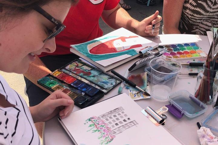 Pet Friendly Watercolor basics and holiday fun