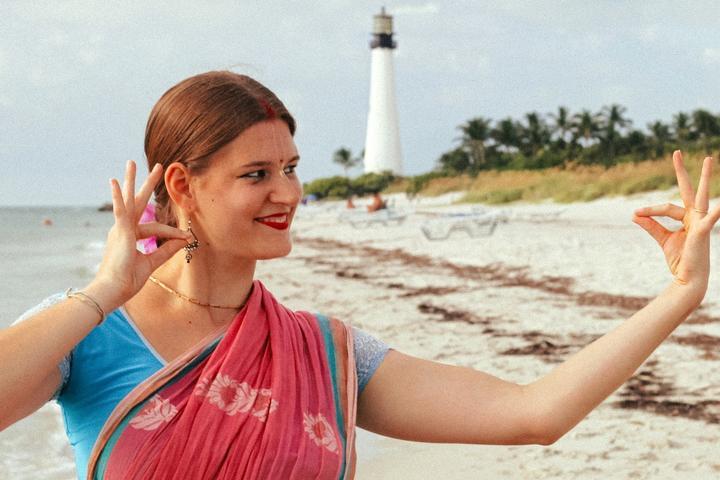 Pet Friendly Learn Mudras on Miami Historical Beach