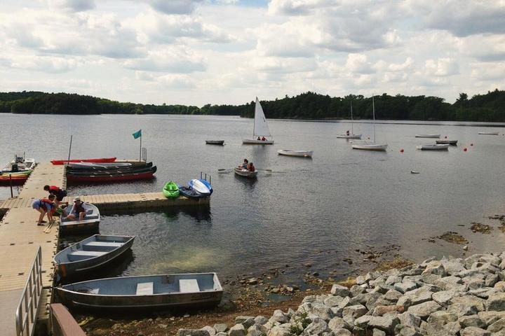 Pet Friendly Boating in Boston at Spot Pond