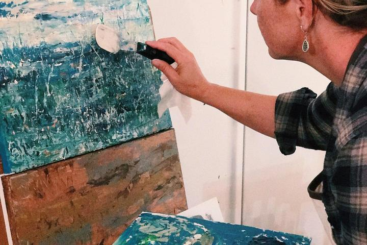 Pet Friendly Abstract Palette Knife Painting Class