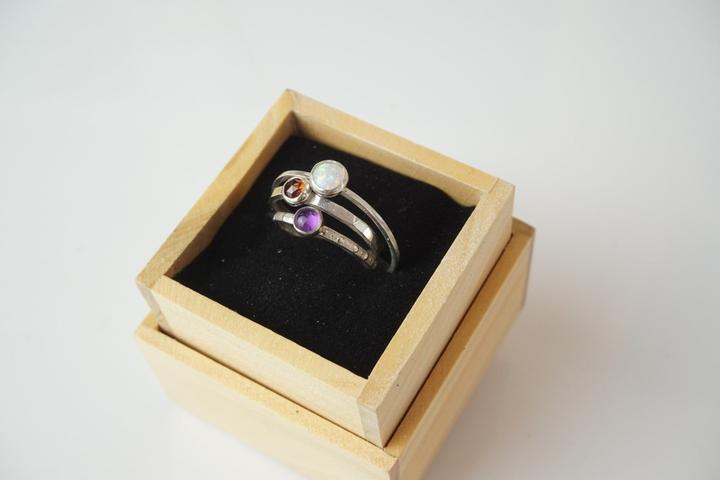 Pet Friendly Craft Gemstone Stacking Rings