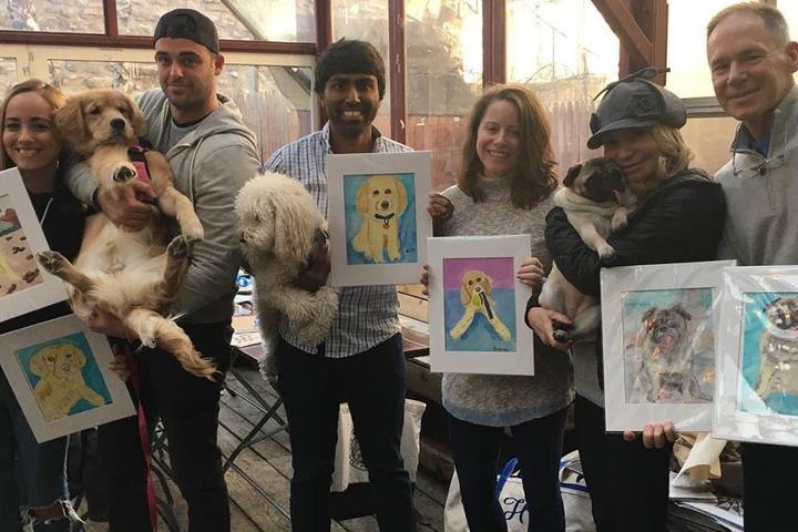 Pet Friendly Paint and Sip Pet Portrait FUN at Boris & Horton