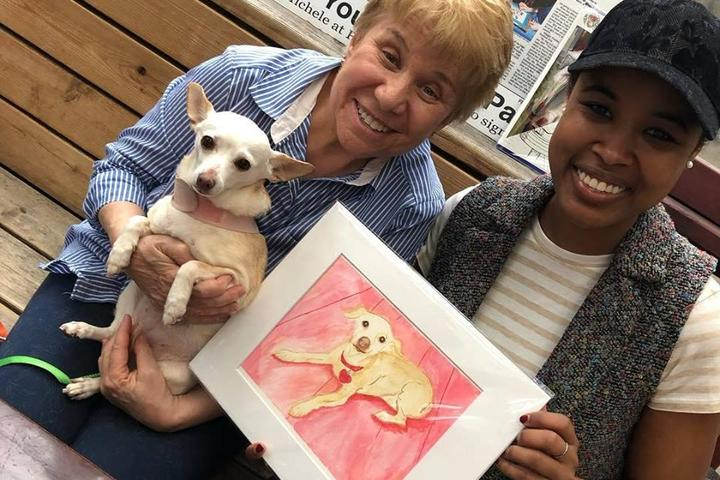 Pet Friendly Paint and Sip Pet Portrait Fun- Valentine's Day - Barking Dog