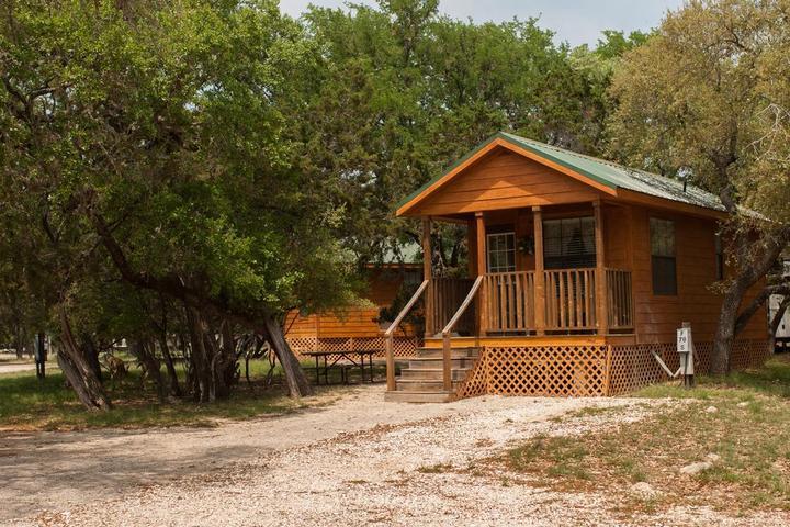 Pet Friendly Medina Lake Camping Resort Cabin 3