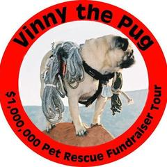 Vinny the Pug's National 100 City Pet Rescue Fundraiser Tour of U.S. and Canada