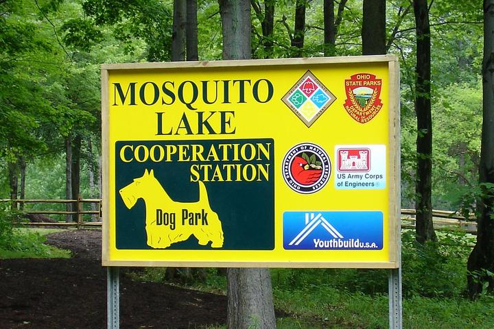 Pet Friendly Cooperation Station Dog Park at Mosquito Lake State Park
