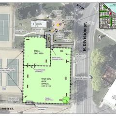 Dog park layout