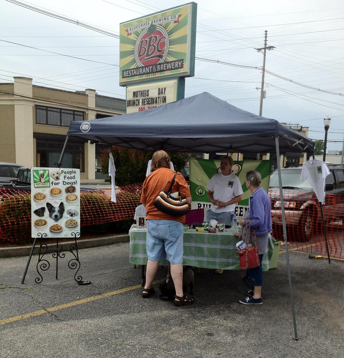 RUDY GREEN'S DOGGY CUISINE TENT