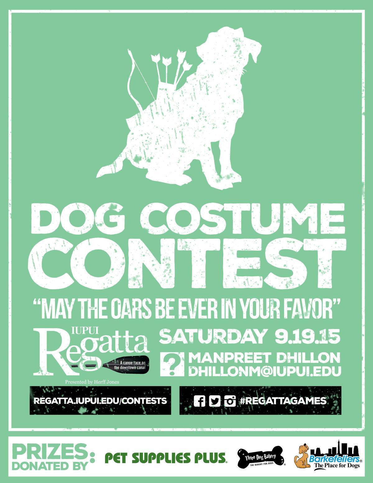 dog costume contest flyer