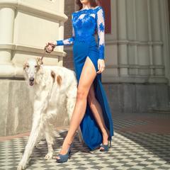 Woman walking dog in Monte Carlo