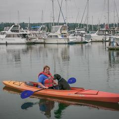Melissa and Ace Kayak