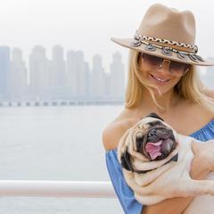 Woman and a Pug