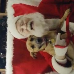 Colby sits with Santa