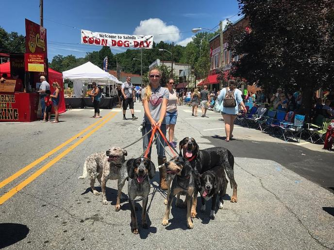 Coon Dog Day is a dog event dedicated to Saluda's favorite mutt.