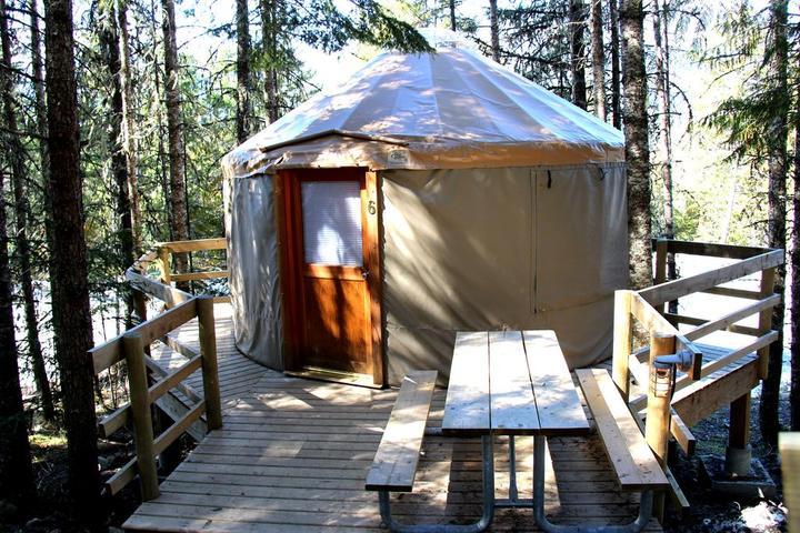 Pet Friendly Yurts at Riverside Resort