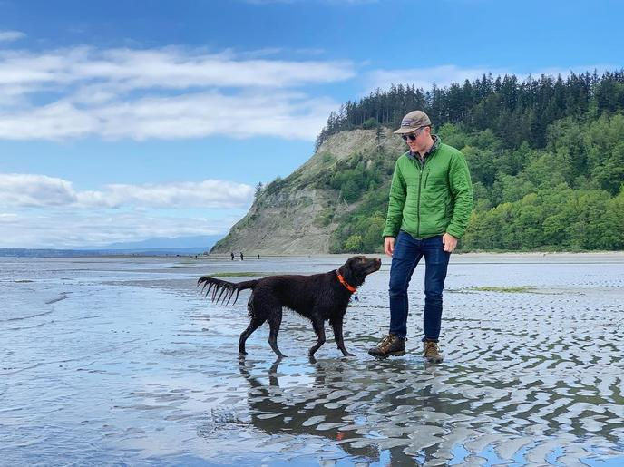 Whidbey Island's off-leash dog beaches are a highlight of a visit to Washington.