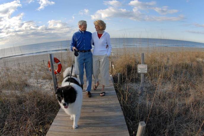 Bald Island has 14 miles of dog-friendly beaches.