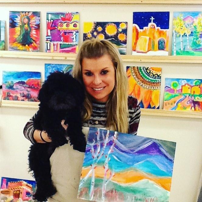 Enjoy a dog-friendly art class in Santa Fe!