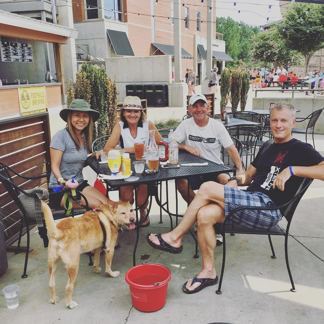 Dogs are allowed on the patio at River's Edge Bar & Grill, located on site at the USNWC.