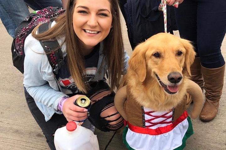 Pet-friendly Oktoberfest USA has a Barks & Brews day for dogs.