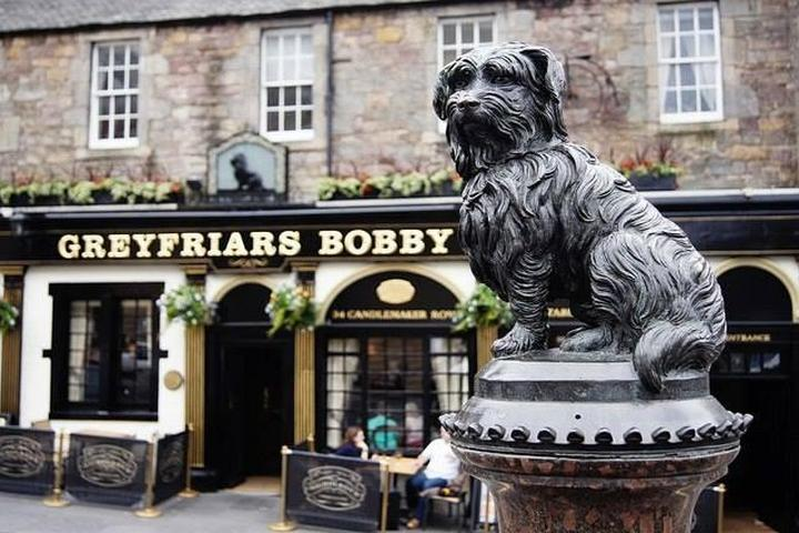 A Dog Statue at Greyfriars Bobby's Bar.