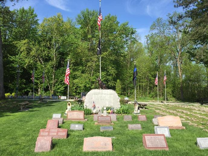 Bring Fido to the Michigan War Dog Memorial and the Vietnam K9 Memorial Wall in Michigan.