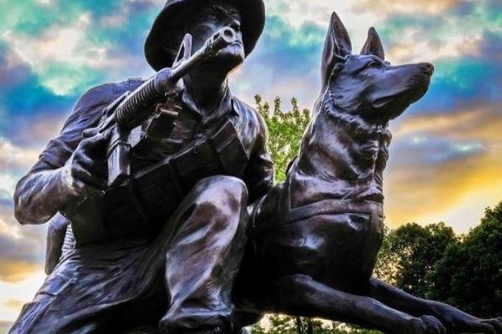 Visit The Highground Veterans Memorial Park War Dog Memorial on Veteran's Day.