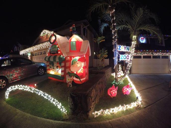 Walk your dog to see the Waikele Lights!