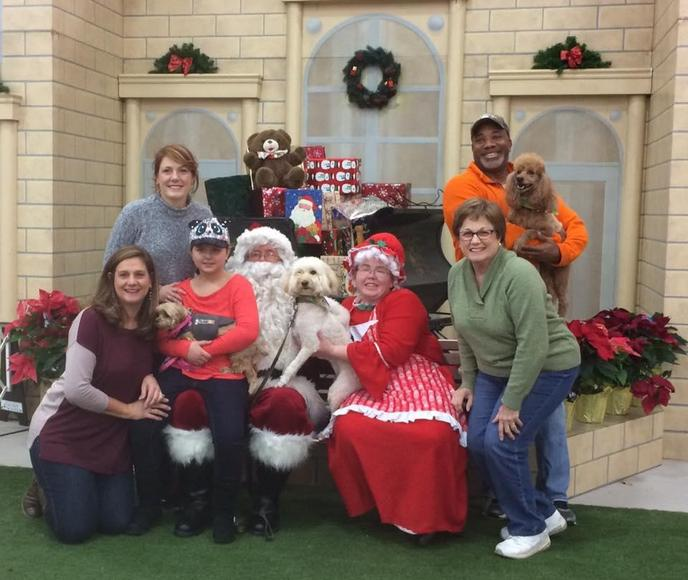 Take photos of your dog with Santa at the Purina Farms Pet-acular Holiday Bazaar.