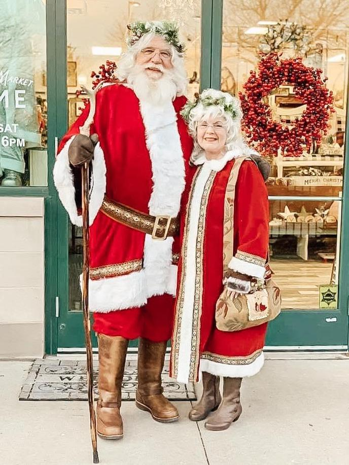 Santa and Mrs. Claus at Small Business Saturday event in Wyandotte.