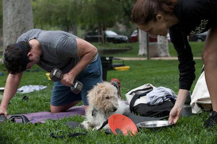 Your dog is your workout partner at Thank Dog! Bootcamp.