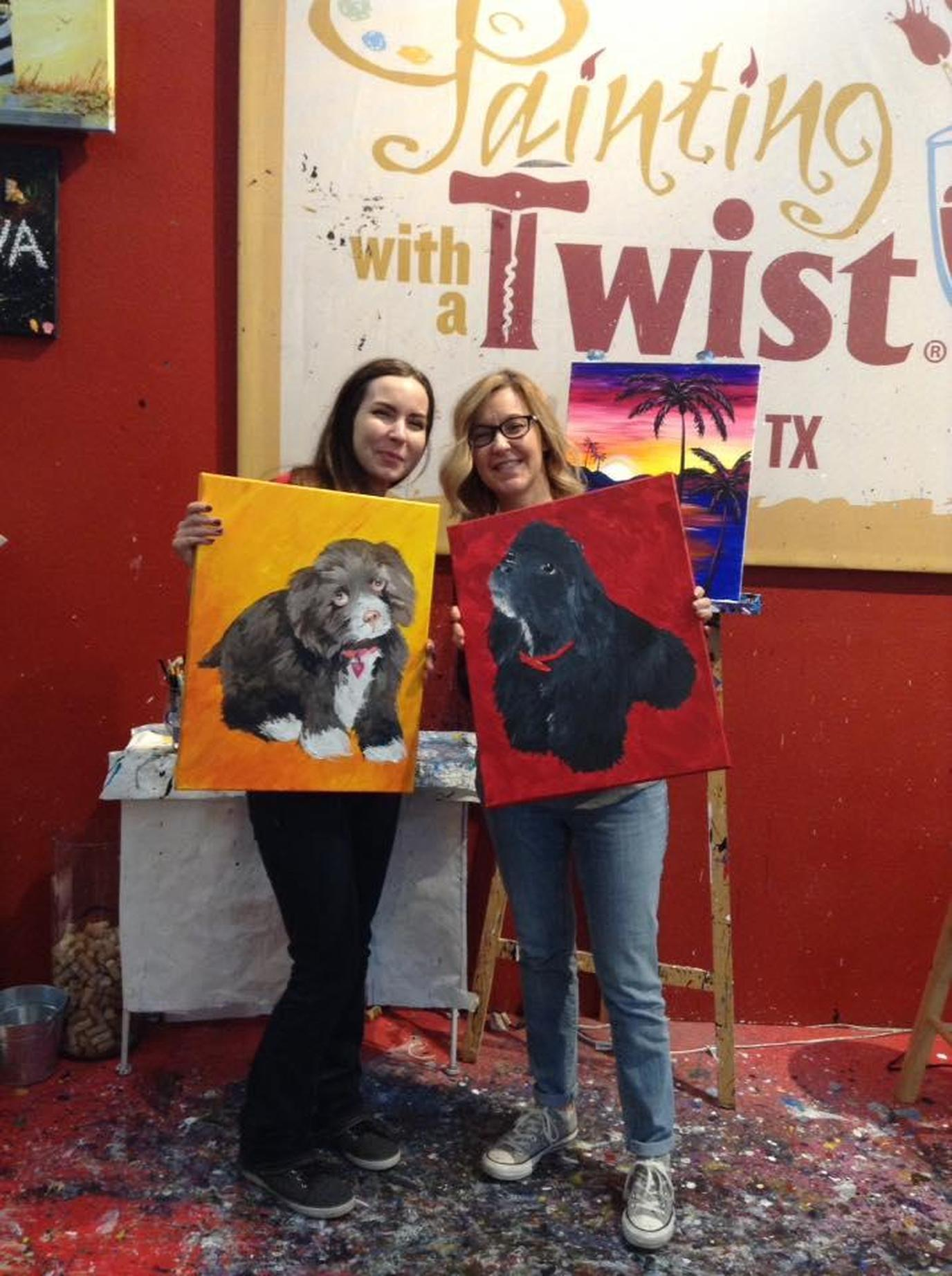 For a relaxing, fun time in Plano, stop by pet-friendly Painting With a Twist.