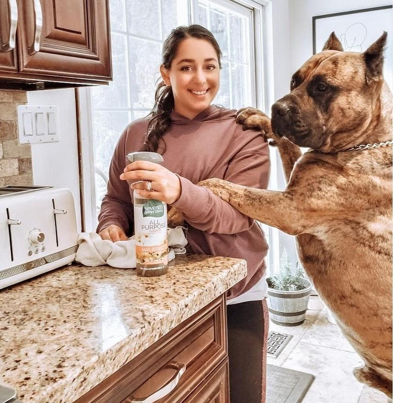 Seventh Gen makes non toxic cleaning products for pets.