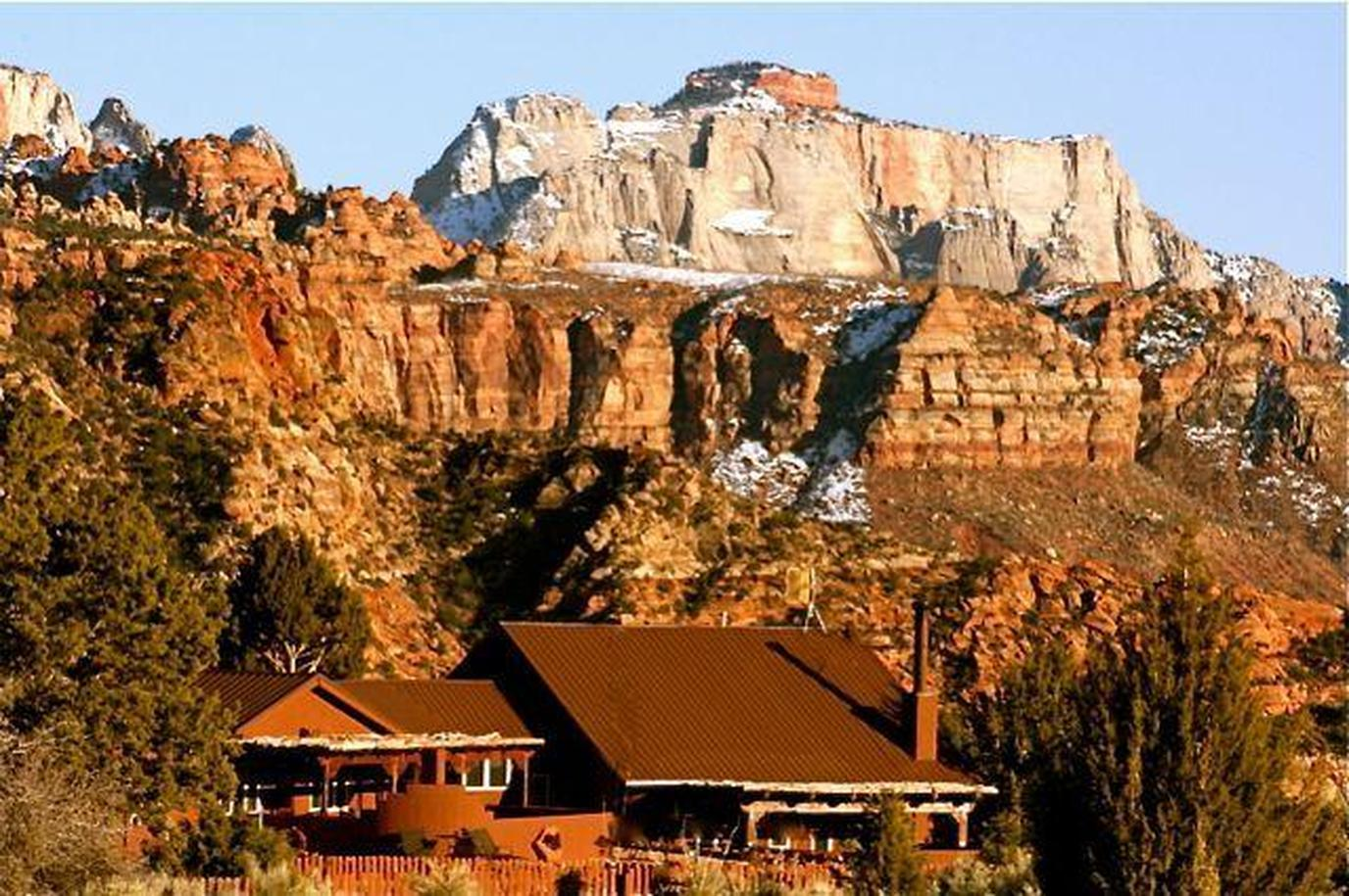 Exterior of Zionvilla, a Dog-Friendly Vacation Rental Within Zion National Park.