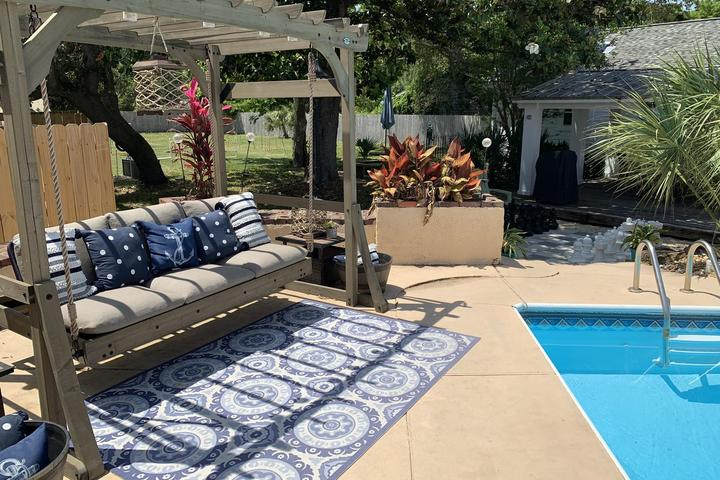 Pet Friendly Guest House with Pool and Fenced Yard
