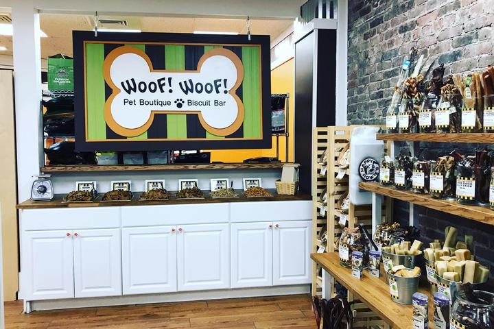 Pet Friendly WOOF! WOOF! Pet Boutique & Biscuit Bar
