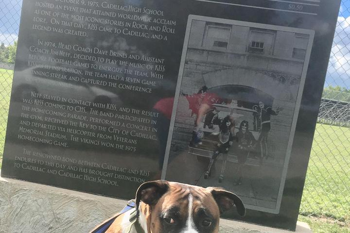 Pet Friendly Cadillac's KISS Monument