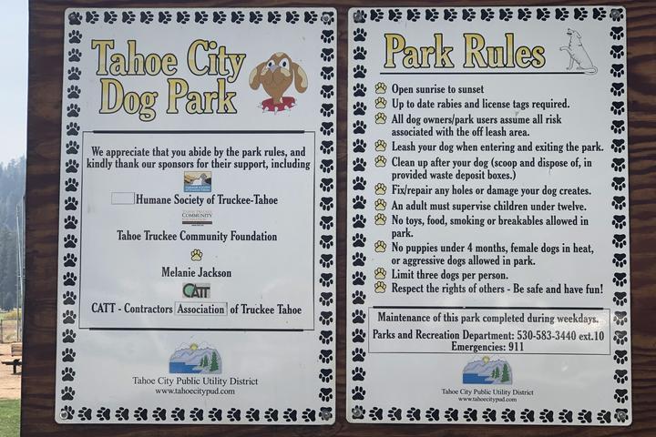 Pet Friendly Tahoe City Dog Park