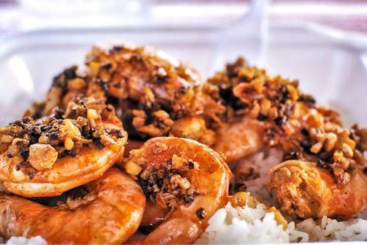 Pet Friendly Romy's Kahuku Prawns and Shrimp