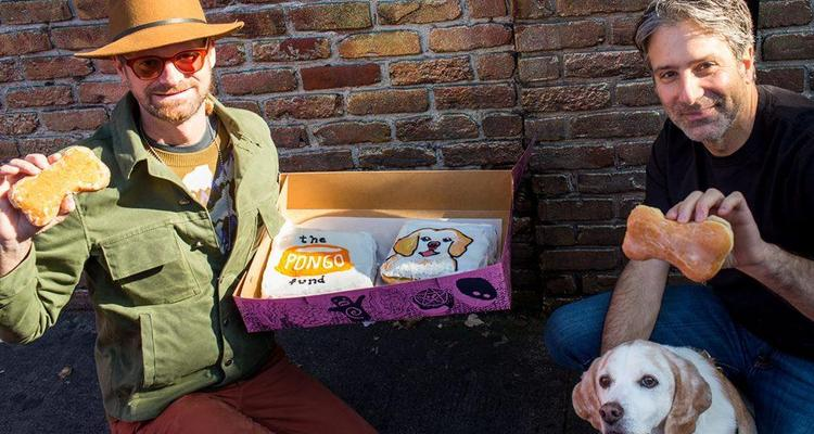 Picture Of A Dog At Voodoo Doughnut Pet Friendly Bakery In Portland